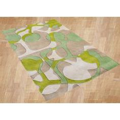 @Overstock - Hand-tufted of New Zealand wool, this Metro rug features a unique abstract design. Stunning colors of beige, lime green and Arcadian green highlight this rug.http://www.overstock.com/Home-Garden/Handmade-Metro-Beige-Area-Rug-5-x-8/5797892/product.html?CID=214117 $143.09