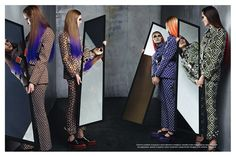 Vogue Italia July 2012 Collections main editorial shot by Steven Meisel, featuring the Fall/Winter collections - Prada Fashion Drug, Foto Fashion, Runway Fashion, New Fashion, Trendy Fashion, Fashion Models, Fashion Outfits, Fall Outfits, Fashion Hair