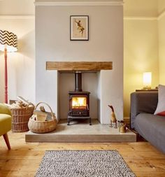 21 Modern Living Room Ideas (Super Sylish Look) Here are some amazing modern living room ideas to inspire you creating a chic living room. Home Living Room, Interior, Living Room With Fireplace, Log Burner Living Room, House Interior, Rustic Living Room, Cottage Living Rooms, Living Decor, Cosy Living Room