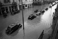 1940 - Rua da Cantareira em tempos de enchente. Foto de Benedito J. Duarte.