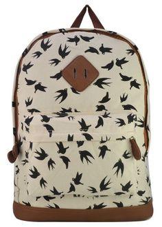 Bird print backpack