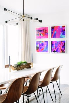 Long Cord Chandelier in Black & Brass. Space by September Workshop. Photo by Mary Costa. http://www.brendanravenhill.com/products/long-cord-chandelier