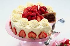 Mary Berry's strawberry cake recipe - goodtoknow... It takes time to make Mary Berry's strawberry and almond 'dacquoise ' but the end result is very impressive...
