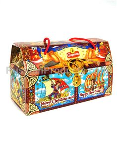 """Gift Box of Assorted Sweets  """"Pirates' Chest""""."""
