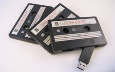 2TB USB 3.0//USB 2.0 Flash Drives Custom Cassette Audio Tape Memory Stick Storage