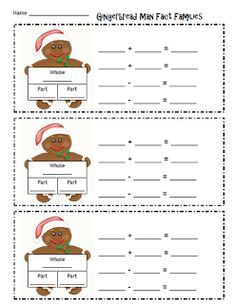 Gingerbread Fact Families!