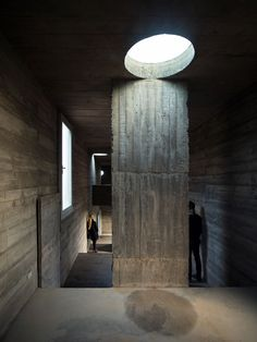 Image 18 of 32 from gallery of Loba House / Pezo von Ellrichshausen. Photograph by Pezo von Ellrichshausen Concrete Architecture, Concrete Building, Space Architecture, Concrete Blocks, Contemporary Architecture, Concrete Board, Fascist Architecture, Pezo Von Ellrichshausen, Concrete Structure