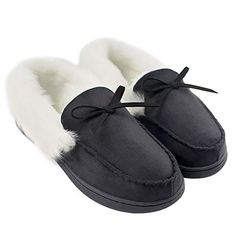 716a41a8efd5df HomeIdeas Women s Faux Fur Lined Suede House Slippers