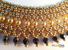 Netting Necklace Pattern Seed Bead Necklace by TheBeadClubLounge