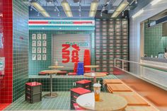 Coffee Shop Design, Cafe Design, Store Design, Cafe Restaurant, Restaurant Design, Cafe Interior, Interior Design, Architecture Restaurant, Chinese Interior