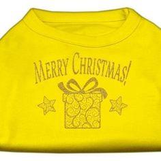 Golden Christmas Present Dog Shirt Yellow XXXL (20)