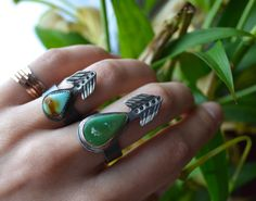Hey, I found this really awesome Etsy listing at https://www.etsy.com/listing/195347667/turquoise-arrow-vane-ring