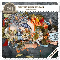 painting under the rain mini kit by Xuxper design : DSH: Digital Scrapbooking Hill - high quality CU and PU elements, exclusive products, kits, freebies and more...