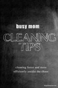 Cleaning Tips for Busy Moms - some really good ideas, plus the comments are full of ideas, too.  #spon #TargetRun
