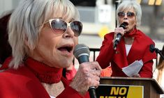 Jane Fonda endorses 'climate candidate' Bernie Sanders before leading star-studded rally in LA Jane Fonda, Amber Heard Girlfriend, Mike Comrie, Atomic Kitten, Laura Whitmore, Tom Kaulitz, Caroline Flack, Amanda Holden, Suffering In Silence