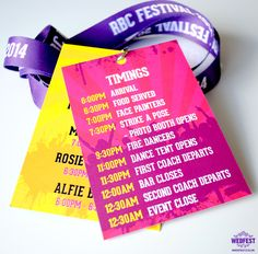 corporate team building event lanyards - wedfest - http://www.wedfest.co/corporate-event-festival-style-lanyards/