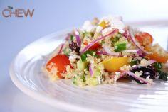 Bobby Flay's Greek Quinoa Salad recipe. #thechew