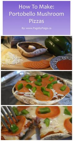 Dukan Diet, Cruise PV Phase. Portobello Mushroom Pizzas | PagebyPaige