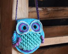 CROCHET PATTERN Owl Tote'em a colorful crochet owl от TheHatandI