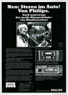 Original-Werbung/ Anzeige 1969 - PHILIPS STEREO AUTORADIO MIT CASSETTEN - ca. 180 x 240 mm