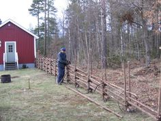 I've gotta try this Totally Swedish Fence Best Egg Laying Chickens, Types Of Chickens, Leghorn Chickens, Rustic Fence, Wooden Fence, Building A Chicken Coop, Hobby Farms, Free Range, Garden Structures