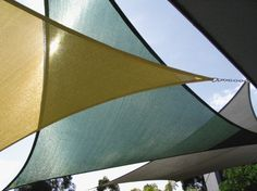 Product: Ready Made Shade Sails  Price: $159.95  Color: Blue, Brown, Cream, Gray, Green, White, Yellow  www.shadesails.com