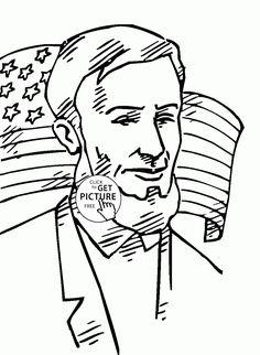 Abraham Lincoln Coloring Page | groundhog day and presidents day ...