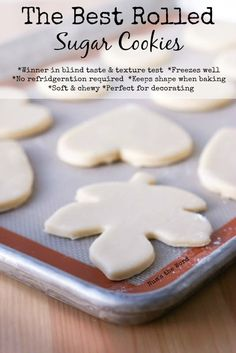the best rolled sugar cookies main image for recipe unbaked cookies on cookie sheet - The Best Christmas Cookies