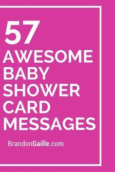 57 Awesome Baby Shower Card Messages