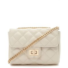 Forever 21 Quilted Mini Crossbody ($15) ❤ liked on Polyvore featuring bags, handbags, shoulder bags, white purse, crossbody shoulder bags, mini crossbody purse, mini crossbody handbags and white handbags