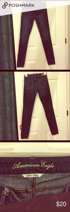American Eagle super stretch skinny jeans Size 0 super stretch skinny jeans dark wash from American eagle regular American Eagle Outfitters Jeans Skinny