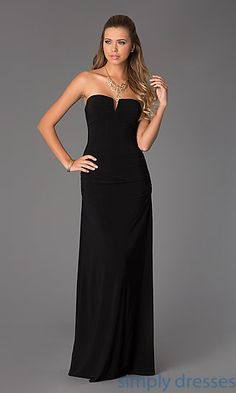 Hailey Logan Ruched Strapless Gown for Prom at SimplyDresses.com