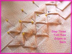 "Vintage Threads: Alphabet Adventures - ""S is for Sharks Teeth"". A sewing technique that involves creating blind tucks in fabric, then snipping the tucks in intervals before folding in the raw edges created and sewing them in place. Quilting Tips, Quilting Tutorials, Quilting Projects, Quilting Designs, Sewing Tutorials, Sewing Projects, Sewing Tips, Techniques Couture, Sewing Techniques"
