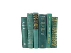 Green Vintage Books ,  Decorative Books ,  Wedding Decor, Christmas Decor, Gift For Book Lover, Gift for Her , Home Decor,  Photography Prop