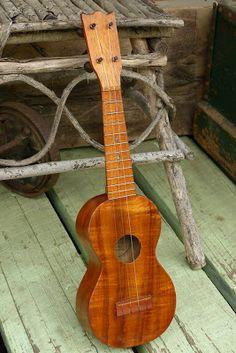 c.1920 Leonardo Nunes Koa Soprano Ukulele, true vintage