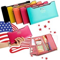 Fashion Lady Women Leather Clutch Wallet Long Card Holder Case Purse Handbag