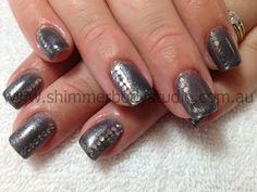 Gel Nails, Gel Polish, Nail Art, Crystals, Diamante, Bling.
