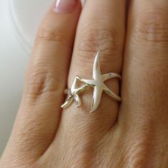 Starfish Ring 925 Sterling Silver Nautical Beach Ring Multiple Sizes New | eBay  @Sara Eriksson Eriksson Joy