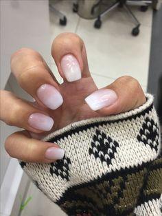 Nails, acrilico, degrade,uñas blancas , white