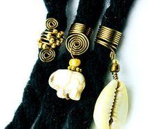 Seashell Loc Jewelry Swirly Cowrie by AsiliaDesigns on Etsy