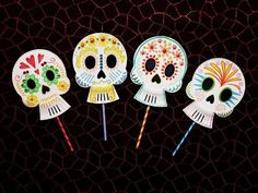 Paper Plate Skulls - idea for party