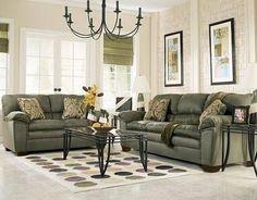 Beau Sage Green Living Room