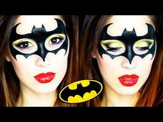Batgirl Halloween Makeup Tutorial 2015 - YouTube