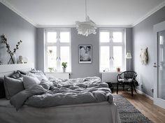 Bedroom grey habitación gris