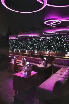 Emma)) At bar with Sadie Design Club, Lounge Design, Lounge Decor, Hookah Lounge, Bar Lounge, Cafe Bar, Design Bar Restaurant, Bar Deco, Lila Party