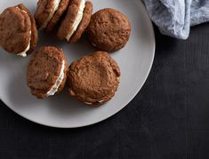 These gluten- and dairy-free whoopie pies are the perfect balance of holiday spice and creamy coconut...we're addicted.