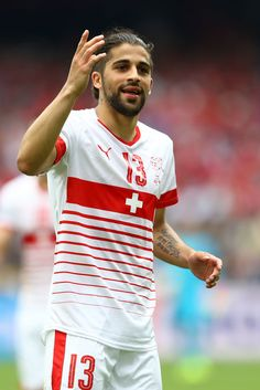 Ricardo Rodriguez of Switzerland in action during the UEFA EURO 2016 Group A match between Albania and Switzerland at Stade Bollaert-Delelis on June 11, 2016 in Lens, France.