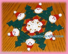 Christmas Santa Doily