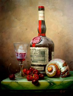 oil painting from Hungary, classic oil painting Painting Still Life, Still Life Art, Still Life Photography, Art Photography, Paint And Drink, Fruit Painting, Wine Painting, Wine Art, Chalk Art