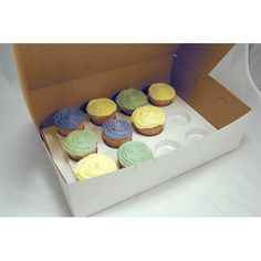 Enhance your finished products' appearance while protecting them during storage and delivery. Use for cakes, pastries, cookies and pies. Order boxes slightly larger than cake size to allow for decorations. Convenient to keep on hand, these plain white boxes ship and store flat, yet fold together quickly when needed. Several sizes for most purposes. Sold in packages of 10. (Cupcake insert trays sold separately.)  $19.25